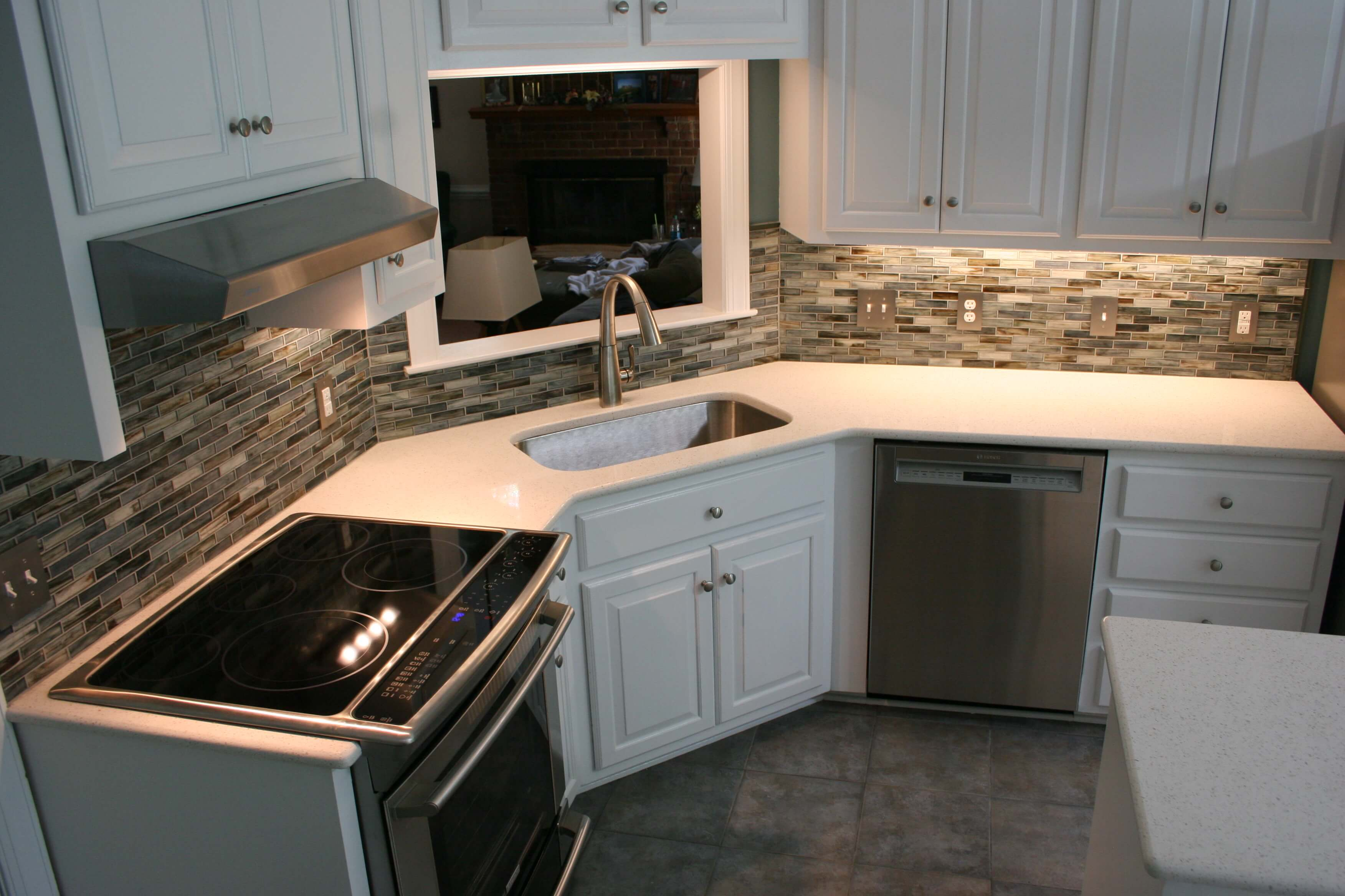 kitchen remodel with quartz countertops